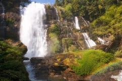 Wachirathan瀑布 免版税图库摄影