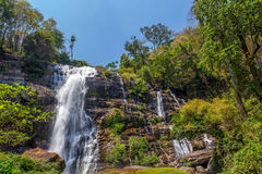 Wachirathan waterfal in Doi Inthanon Stock Photo