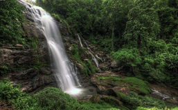 Wachirathan waterfall, Chiang Mai, Thailand Stock Images