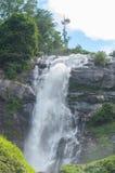 Wachirathan waterfall at doi inthanon nation park in chiangmai Stock Image