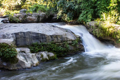 Wachirathan waterfall, Doi Inthanon National Park in Chiang Mai, Royalty Free Stock Photography