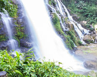 Wachirathan waterfall, Doi Inthanon National Park in Chiang Mai, Royalty Free Stock Photos