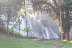 Wachirathan waterfall, Doi Inthanon National Park in Chiang Mai, Royalty Free Stock Image