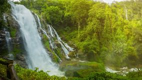 Wachirathan Waterfall. Thailand, Chang Mai. Video 1920x1080 - Wachirathan Waterfall. Thailand, Chang Mai stock footage