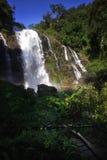 Wachirathan waterfalls. At doi inthanon, chiang mai, thailand Royalty Free Stock Photo