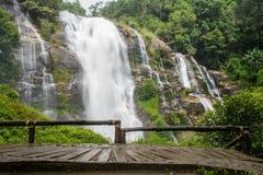 Wachirathan Waterfalls at Doi Inthanon national park Royalty Free Stock Images