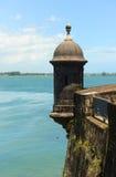 Wachkasten bei Castillo San Felipe del Morro, San Juan Stockfotografie