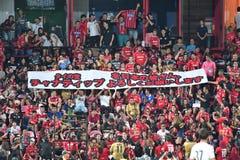 Wachluje futbol Consadole Sapporo w Bangkok zawody międzynarodowi stopie Zdjęcia Royalty Free