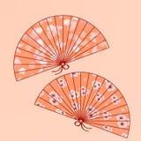 wachluje japończyka tradycyjnego Obraz Stock