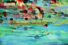 Wachs, Farbe und Aquarell, abstrakte Beschaffenheit und Hintergrund Stockfotos
