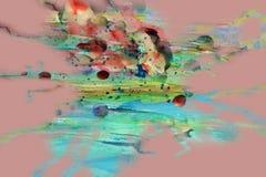 Wachs, Farbe und Aquarell, rosa abstrakte Beschaffenheit und Hintergrund Lizenzfreies Stockbild