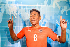 Wachs-Museum David Alaba Figurine At Madames Tussauds Lizenzfreie Stockfotos
