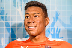 Wachs-Museum David Alaba Figurine At Madames Tussauds Lizenzfreie Stockfotografie