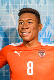 Wachs-Museum David Alaba Figurine At Madames Tussauds Stockfoto
