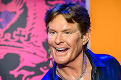 Wachs-Museum David Hasselhoff Figurine At Madames Tussauds Stockfoto