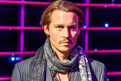 Wachs-Museum Johnny Depp Figurine At Madames Tussaud Lizenzfreies Stockbild