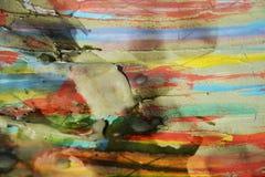 Wachs, Schlamm auf gebranntem Papier, abstrakter Hintergrund der Weinlese Stockfotos