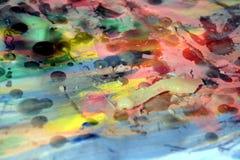 Wachs und Farbe Abstrakter Hintergrund und dunkle Löcher Stockfotografie