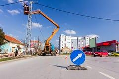 Wachsame Zeichen des Verkehrs Lizenzfreies Stockfoto