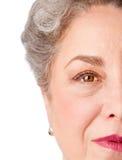 Wachsames älteres Auge der Erfahrung Stockfoto