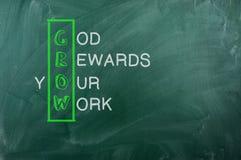 Wachsen Sie Akronym Lizenzfreie Stockbilder