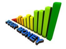 Wachsen Sie Ihr Geld Stockfoto