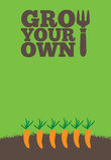 Wachsen Sie Ihre eigenen poster_Carrots lizenzfreie abbildung