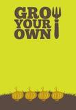 Wachsen Sie Ihre eigenen poster_Onions vektor abbildung