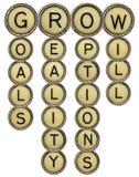 Wachsen Sie Kreuzworträtsel Lizenzfreie Stockbilder