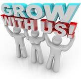 Wachsen Sie mit uns - schließen Sie sich einer Gruppe für persönliches Wachstum an Stockbild
