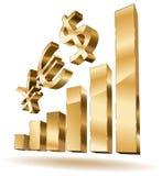 Wachsende goldene Stäbe Lizenzfreies Stockfoto