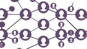 Wachsende Netzschleife der Vernetzung Animation des Sozialen Netzes Konzept des globalen Netzwerks und des Personals lizenzfreie abbildung