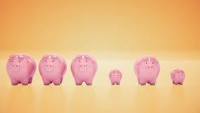 Wachsende Piggy Querneigung Getrennt auf weißem background vektor abbildung