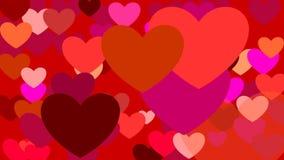 Wachsende rote Herzen stock video