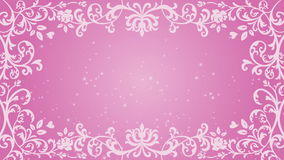 Wachsender Blumenrahmen und Funkelnanimation - rosa Farbe stock video footage