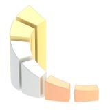 Wachsendes Balkendiagrammdiagramm lokalisiert Stockfoto