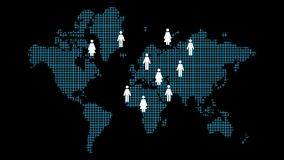 Wachsendes Soziales Netz stock video footage