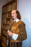 Wachsfigur des weltberühmten britischen Verfassers William Shakespeare am Wachsmuseum Madame Tussauds London lizenzfreies stockfoto
