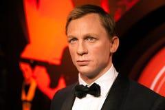 Wachsfigur von Daniel Craig als Mittel James Bonds 007 in Museum Madame Tussauds Wax in Amsterdam, die Niederlande Stockbilder