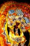 Wachsfigur von Mardi Gras Indian Headdress stockbild