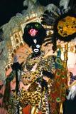 Wachsfigur von Mardi Gras Zulu Headdress stockbilder