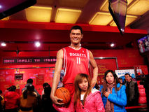 Wachsfigur Yao Mings in Madame Tussauds Lizenzfreie Stockbilder