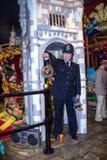 Wachsfiguren des Polizisten in der traditionellen Uniform an Museum Madame Tussauds London, Großbritannien Lizenzfreie Stockfotografie