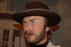 Wachsstatue von Clint Eastwood Stockfotografie