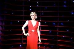 Wachsstatue von Nicole Kidman lizenzfreie stockfotografie