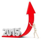 Wachstum 2015 Stockbild