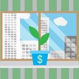 Wachstum der Unternehmensgründung in den guten Bedingungen vektor abbildung
