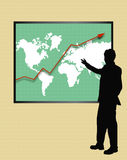 Wachstum-Diagramm u. Mann Lizenzfreies Stockbild