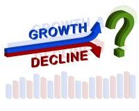 Wachstum gegen Abnahme stock abbildung