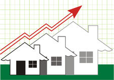 Wachstum im Grundbesitz-Grau Stockbild